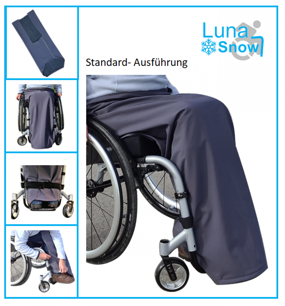 LunaSnow leg cover for wheelchair users